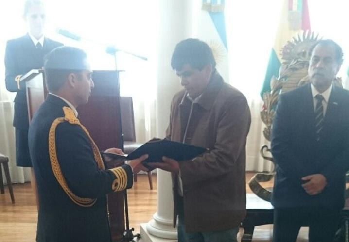 Homenaje al 50 aniversario de la Firma del Acuerdo Bolivia – Argentina para establecimiento de la Misión Naval