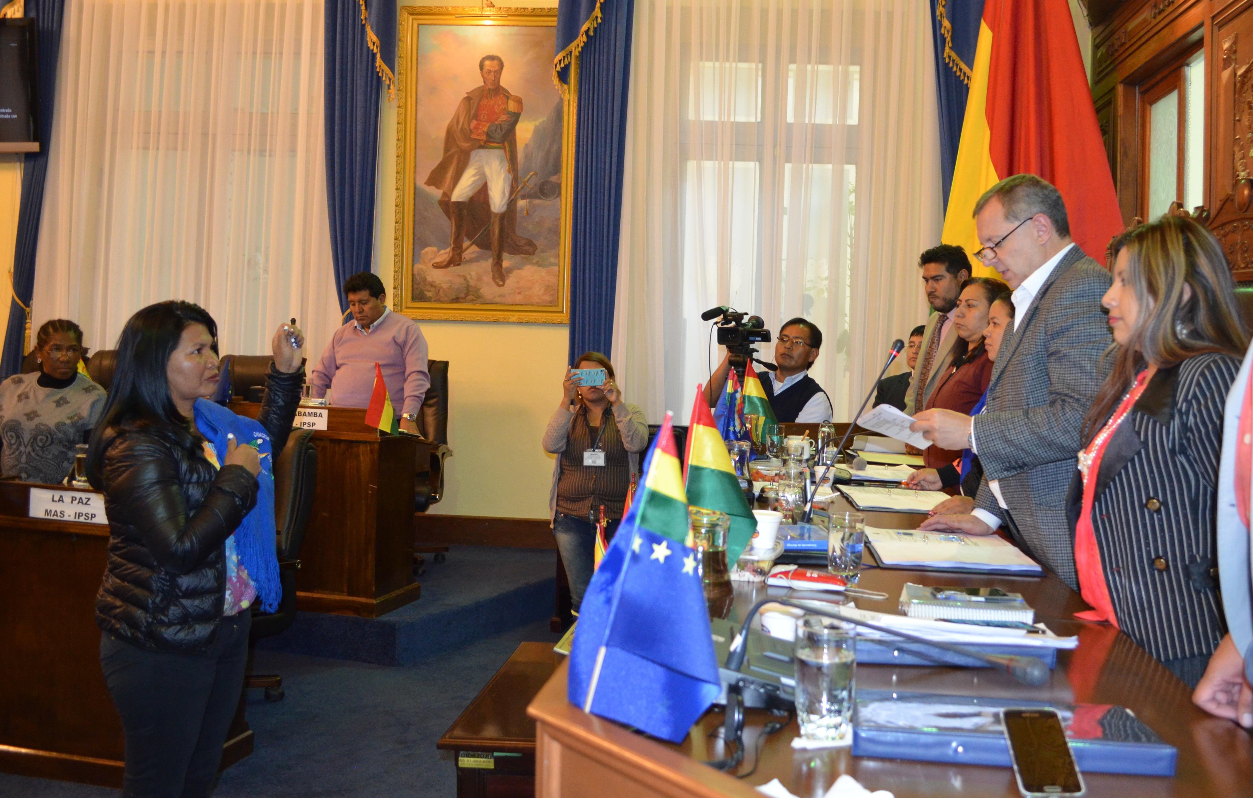 Ruth Franco Guary jura como senadora por el departamento del Beni