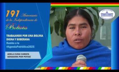 Embedded thumbnail for Senadora Adela Cussi saluda 191 años de independencia Bolivia #6DeAgosto
