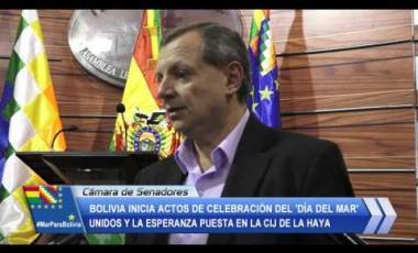 Embedded thumbnail for Bolivia inicia celebración del 'Día del Mar' unidos y la esperanza puesta en la CIJ
