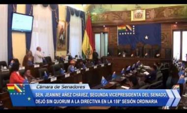 Embedded thumbnail for Senadora Jeanine Áñez deja sin quórum a la Directiva del Senado