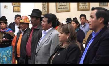 Embedded thumbnail for Huanca presidirá la Brigada Parlamentaria de La Paz por la Legislatura 2016 - 2017