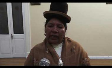 """Embedded thumbnail for Senadora Apaza: """"Un saludo revolucionario a todas las madres de Bolivia"""""""