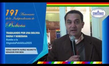 Embedded thumbnail for Senador Yerko Nuñez Negrete saluda 191 años independencia Bolivia #6DeAgosto