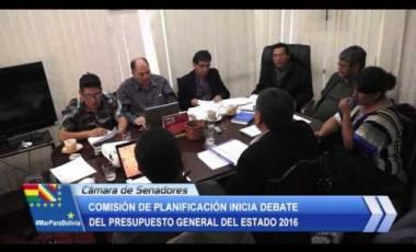 Embedded thumbnail for Comisión de Planificación inicia debate del PGE 2016
