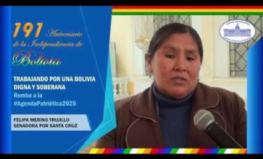 Embedded thumbnail for Senadora Felipa Merino saluda 191 años independencia Bolivia #6DeAgosto