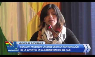 Embedded thumbnail for Senador Cáceres destaca participación de la juventud, en la administración del país