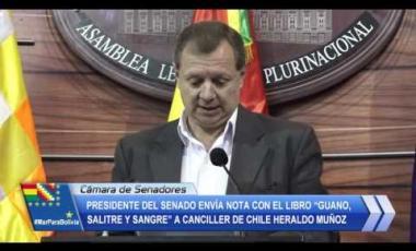 """Embedded thumbnail for Presidente del Senado envía nota con el Libro """"Guano, Salitre y Sangre"""" a canciller de Chile"""