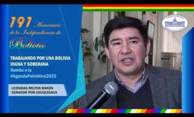 Embedded thumbnail for Senador Milton Barón saluda los 191 años independencia Bolivia #6DeAgosto