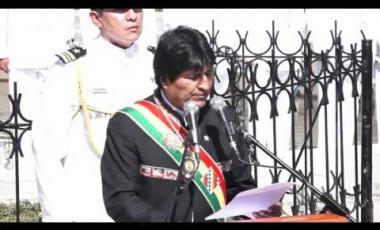"""Embedded thumbnail for Mensaje del presidente Evo Morales Ayma por el 23 de Marzo """"Día del Mar"""" Plaza Abaroa."""
