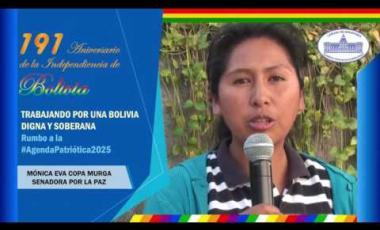 Embedded thumbnail for Senadora Eva Copa saluda 191 años de independencia de Bolivia #6DeAgosto